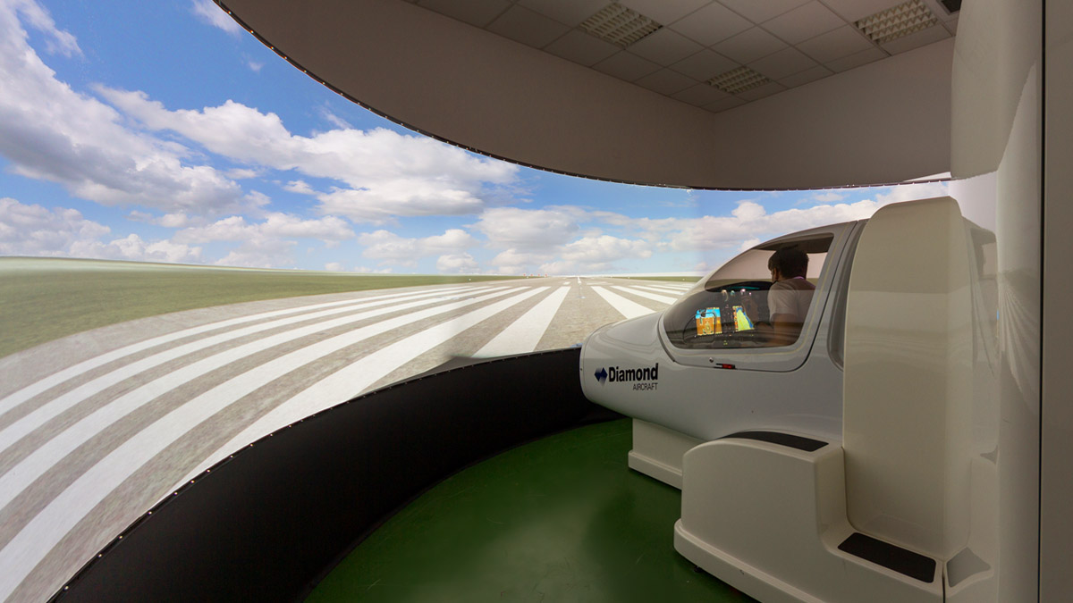 The Diamond DA42 simulator device