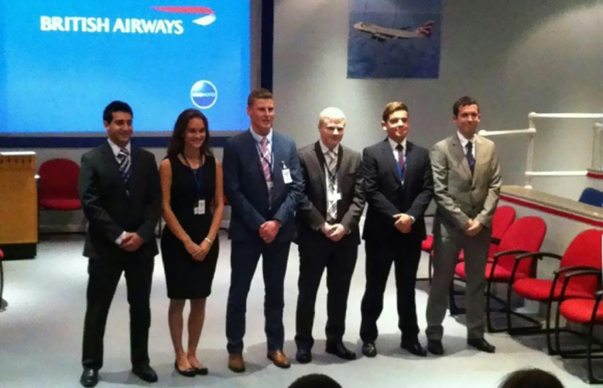 6 BA Future Pilot Programme Cadets during Family Day at BA Head Office yesterday